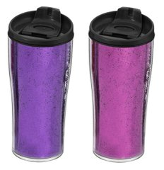 Т/Кружка Herevin Pink&Purple Glitter Powder MIX 440 мл (161483-014)